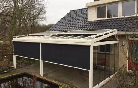 Overkapping op maat bij Van Ewijk Zonwering in Lelystad Dronten Swifterbant en Almere 010