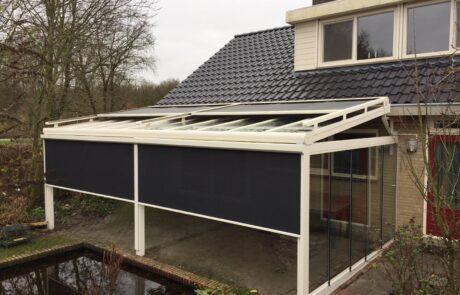 Overkapping zonwering op maat bij Van Ewijk Zonwering in Lelystad Dronten Swifterbant en Almere 01