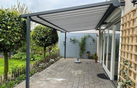 Veranda zonnescherm bij Van Ewijk Zonwering in Lelystad Dronten Swifterbant Biddinghuizen en Almere na